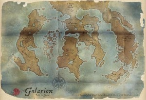 An artist's map of Golarion