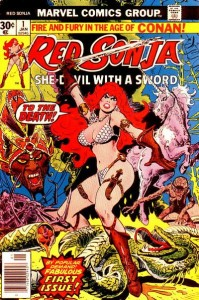 Red Sonja as depicted by Frank Thorne